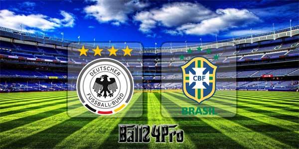 ดูบอลย้อนหลัง กระชับมิตร เยอรมนี vs บราซิล 27-3-2018