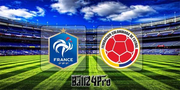 ดูบอลย้อนหลัง กระชับมิตร ฝรั่งเศส vs โคลอมเบีย 23-3-2018