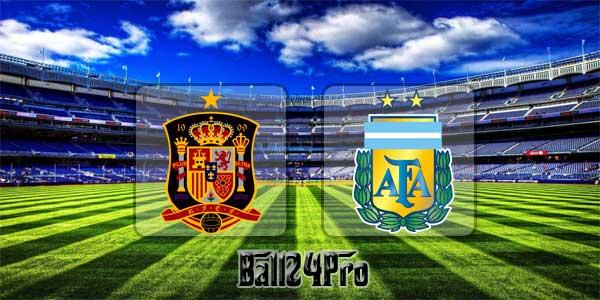 ดูบอลย้อนหลัง กระชับมิตร สเปน vs อาร์เจนตินา 27-3-2018