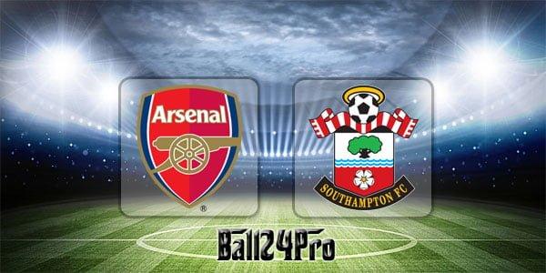 ดูบอลย้อนหลัง พรีเมียร์ลีก อาร์เซนอล vs เซาแธมป์ตัน 8-4-2018