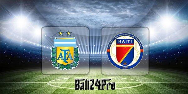 ดูบอลย้อนหลัง กระชับมิตร อาร์เจนตินา vs เฮติ 30-5-2018