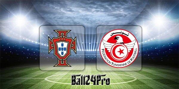 ดูบอลย้อนหลัง กระชับมิตร โปรตุเกส vs ตูนิเซีย 28-5-2018