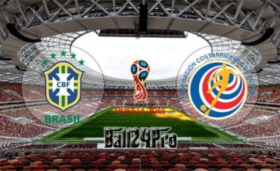 ดูบอลย้อนหลัง ฟุตบอลโลก 2018 บราซิล vs คอสตาริกา 22-6-2018