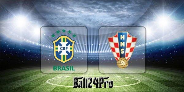 ดูบอลย้อนหลัง กระชับมิตร บราซิล vs โครเอเชีย 3-6-2018