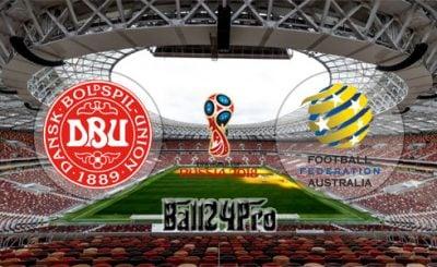 ดูบอลย้อนหลัง ฟุตบอลโลก 2018 เดนมาร์ก vs ออสเตรเลีย 21-6-2018