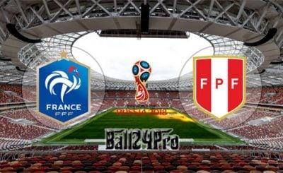 ดูบอลย้อนหลัง ฟุตบอลโลก 2018 ฝรั่งเศส vs เปรู 21-6-2018