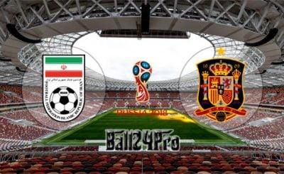 ดูบอลย้อนหลัง ฟุตบอลโลก 2018 อิหร่าน vs สเปน 20-6-2018