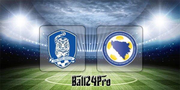 ดูบอลย้อนหลัง กระชับมิตร เกาหลีใต้ vs บอสเนียและเฮอร์เซโกวีนา 1-6-2018