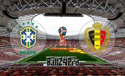 ดูบอลย้อนหลัง ฟุตบอลโลก 2018 บราซิล vs เบลเยียม 6-7-2018