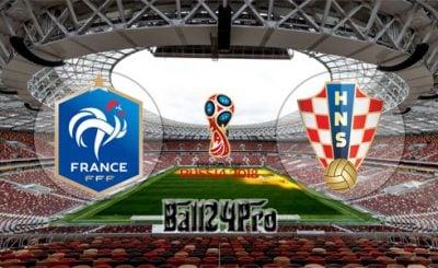ดูบอลย้อนหลัง ฟุตบอลโลก 2018 ฝรั่งเศส vs โครเอเชีย 15-7-2018