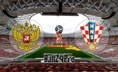 ดูบอลย้อนหลัง ฟุตบอลโลก 2018 รัสเซีย vs โครเอเชีย 7-7-2018