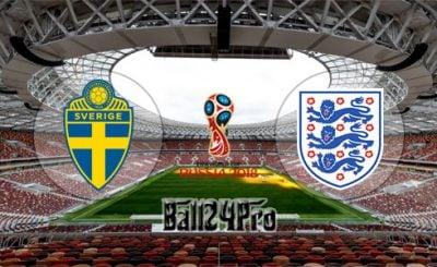 ดูบอลย้อนหลัง ฟุตบอลโลก 2018 สวีเดน vs อังกฤษ 7-7-2018