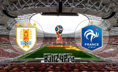ดูบอลย้อนหลัง ฟุตบอลโลก 2018 อุรุกวัย vs ฝรั่งเศส 6-7-2018