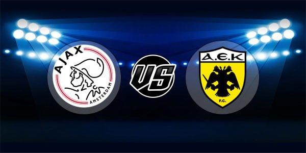 ดูบอลย้อนหลัง ยูฟ่า แชมเปียนส์ลีก อาแจกซ์ vs เออีเค เอเธนส์ 19-9-2018