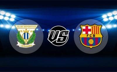 ดูบอลย้อนหลัง ลาลีกา เลกาเนส vs บาร์เซโลน่า 26-9-2018