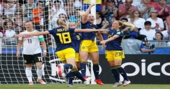 แข้งสาวสวีเดน ฮึดแซงดับอินทรีเหล็ก ทะลุตัดเชือกบอลโลกหญิง