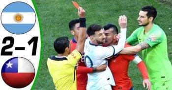 ไฮไลท์ฟุตบอล โคปา อเมริกา อาร์เจนตินา 2-1 ชิลี