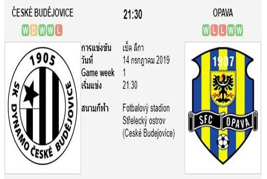 ทีเด็ดฟุตบอล เช็ก ดิวิชั่น 1 เซสเก บูเดโจวิซ (-0/0.5) โอปาว่า