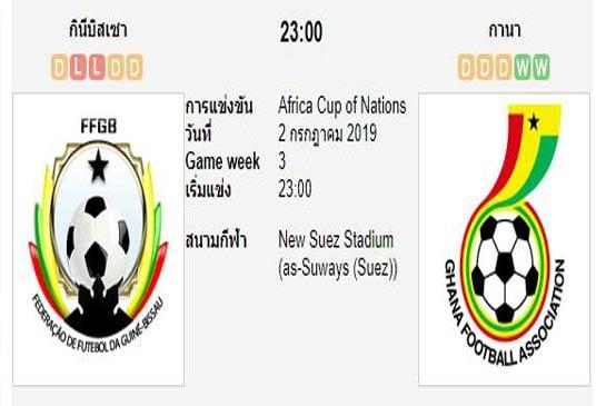 ทีเด็ดฟุตบอล แอฟริกัน เนชั่นส์คัพ [118]กินีบิสเซา (+1) กาน่า[50]