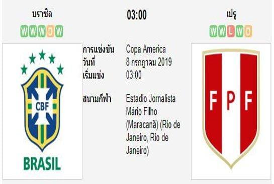 ทีเด็ดฟุตบอล โคปา อเมริกา [3]บราซิล (-1.5) เปรู[21]