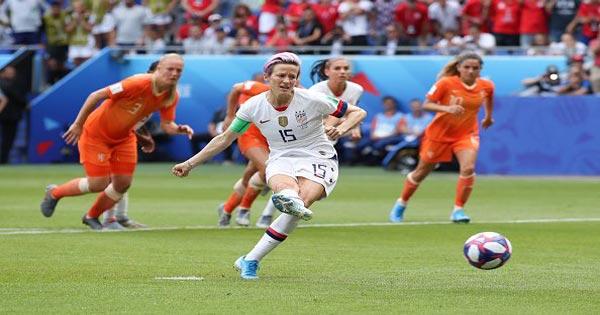 แข้งสาวสหรัฐอเมริกา เชือดดัตช์ ยืดสถิติแชมป์บอลโลกหญิงมากสุด