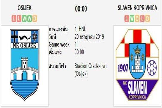 ทีเด็ดฟุตบอล โครเอเชีย เพอร์วาลีก้า โอซีเยค (-0.5/1) สลาเวน เบลูโป้