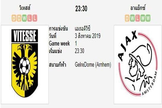 ทีเด็ดฟุตบอล เอเรอดีวีซี ฮอลแลนด์ วิเทสส์ (+1) อาแจกซ์ อัมสเตอร์ดัม