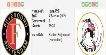 ทีเด็ดฟุตบอล เอเรอดีวีซี ฮอลแลนด์ เฟเยนูร์ด ร็อตเธอร์ดัม (-1.5) สปาร์ต้า ร็อตเตอร์ดัม