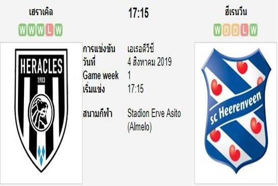 ทีเด็ดฟุตบอล เอเรอดีวีซี ฮอลแลนด์ เฮราเคิ่ลส์ อัลมีโร่ (-0.5) ฮีเรนวีน