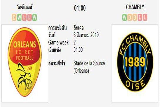 ทีเด็ดฟุตบอล ลีกเดอซ์ ฝรั่งเศส [14]โอร์แลงส์ (+0.5) ชอล์มบลี่[6]
