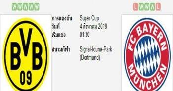 ทีเด็ดฟุตบอล เยอรมัน ซูเปอร์คัพ โบรุสเซีย ดอร์ทมุนด์ (+0/0.5) บาเยิร์น มิวนิค