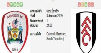 ทีเด็ดฟุตบอล แชมป์เปี้ยนชิพ อังกฤษ บาร์นสลีย์ (+0/0.5) ฟูแล่ม