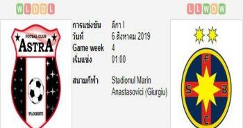 ทีเด็ดฟุตบอล โรมาเนีย ลีก้า 1 [7]เอฟซี แอสตร้า (+0/0.5) สเตอัว บูคาเรสต์[8]